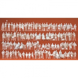 H0 nebarvené figurky -na nádraží- 120 figurek