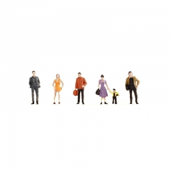 N postavy chodců 6 figurek