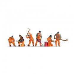 N pracovníci na kolejích 6 figurek