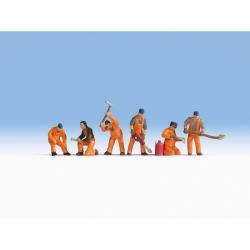 TT - traťový dělníci 6 figurek
