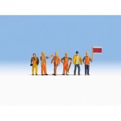 TT - železniční dělník 6 figurek