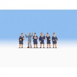 H0 - dopravní strážník - Pomněnková Marie - 6 figurek