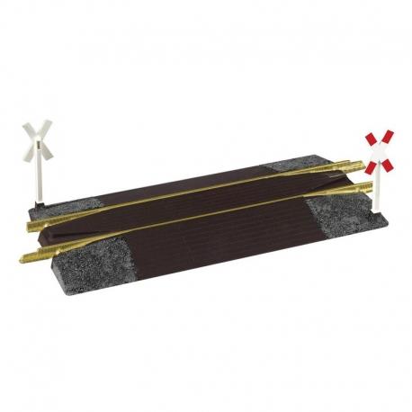 G kolejový přejezd kombinovaný s nakolejovačem