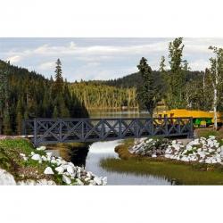 H0 most ocelový příhradový -jednokolejný-