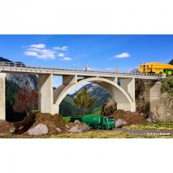 H0 obloukový most z předpjatého betonu -jednokolejný-