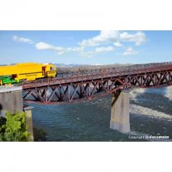 H0 most ocelový trámový  -jednokolejný-