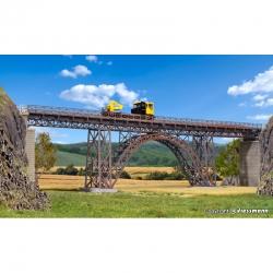 H0  ocelový viadukt