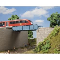 H0 most jednokolejný kovový -stavebnice-