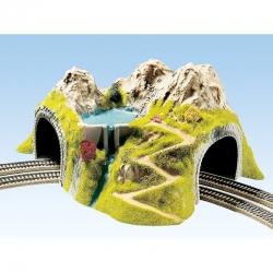 H0  tunel dvoukolejný do oblouku