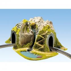 H0  tunel jednokolejný do oblouku