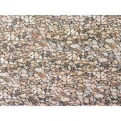 N papírová dekorační deska s plastickým motivem -přírodní kámen-