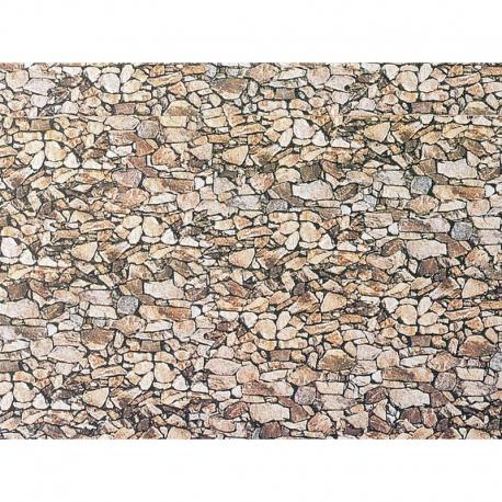 N - papírová dekorační deska s plastickým motivem -přírodní kámen-