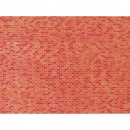 N papírová dekorační deska s plastickým motivem -pálená cihla-
