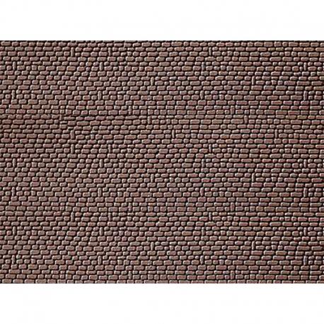 H0 opěrná zeď -kamenná pískovec- 2ks