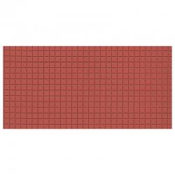 Deska z umělé hmoty- dlažba červenohnědá