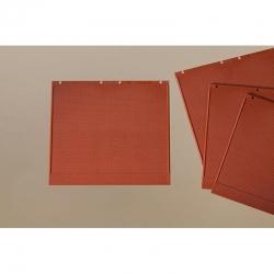 Deska z umělé hmoty- zeď červená 4ks