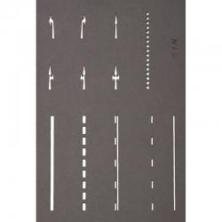 N vodorovné dopravní značení -šablony-