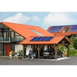 H0 kryté stání se solárními kolektory