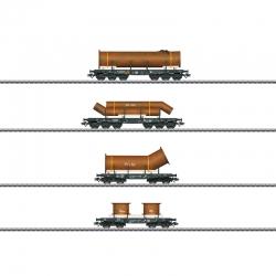 H0 set nákladních vozů na přepravu těžkého zboží