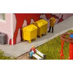 H0 kontejner žlutý 2ks stavebnice