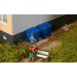 H0 kontejner modrý 2ks stavebnice