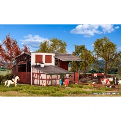 H0 stodola pro dobytek