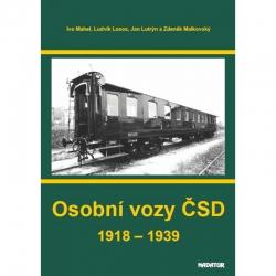 """Výpravná kniha """"Osobní vozy ČSD"""""""