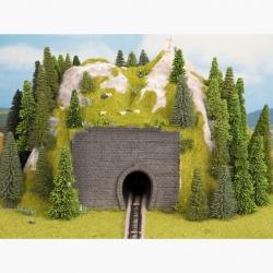 N tunelový portál -jednokolejný-