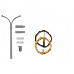 N lampa -pouliční dvouramenná- LED bílá 54 mm stavebnice