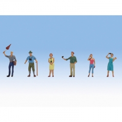 H0 skupina turistů 6 figurek