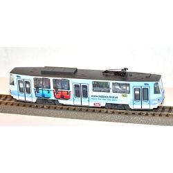 H0 tramvaj 6A5 s reklamou www.ledovce.tirol.at