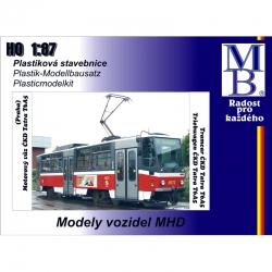 H0 tramvaje ČKD Tatra T6A5  -stavebnice-