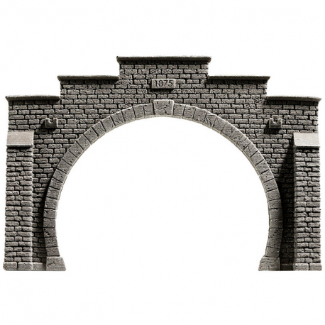 N tunelový portál -dvojkolejný-