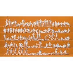 H0 nebarvené figurky -volný čes u jezera-