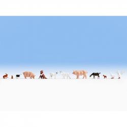 H0 zvířata na farmě 12 zvířátek