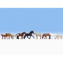 H0 koně 9 figurek