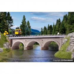 H0 most kamenný obloukový rovný -jednokolejný-