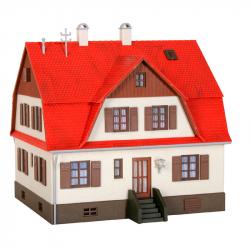 H0 bytový dům se sedlovou přístavbou