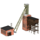 H0 Laser Cut  -malý důl Victoria - strojovna - těžební věž-