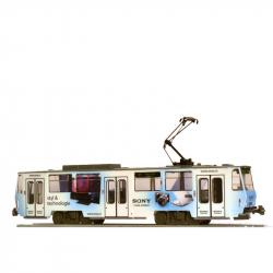 H0 tramvaj ČKD Tatra T6A5  s celoplošnou reklamou