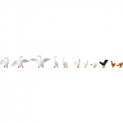 H0 kuřata a husy 11 figurek