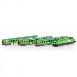 N set Flixtrain s elektrická lokomotiva -Taurus- BR 182 + 3 osobní vozy ep.VI