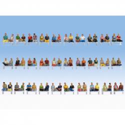 H0 sedící cestující set 60 figurek