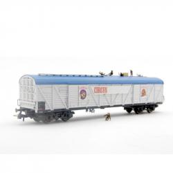 H0 čtyřosý cirkusový vůz na přepravu zvířat