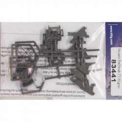 TT stavebnice zarážedla - šedá (balení 4ks)