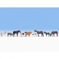 H0 zvířata na farmě 9 figurek