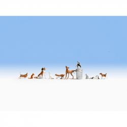H0 psi a kočky 10 zvířátek