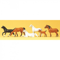 H0 koně 6 figurek