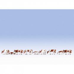 N krávy -hnědé- 9 figurek