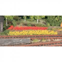 0,H0 pruhy trávy -žluté,červené-100 mm dlouhé, 10 mm vysoké 8 kusů